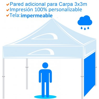 Pared adicional para Carpa impermeable de 3x3m