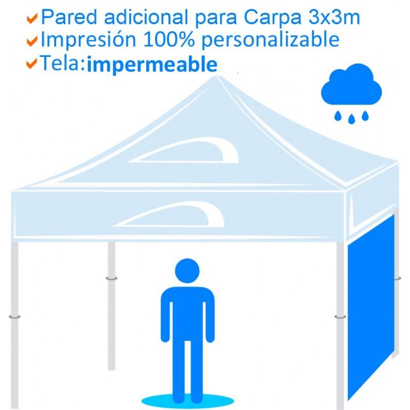 Pared adicional para Carpa impermeable de 3x3m