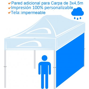 Pared adicional para Carpa impermeable de 3x4,5m