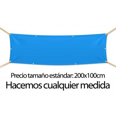 Pancarta textil con ollaos cada 50cm