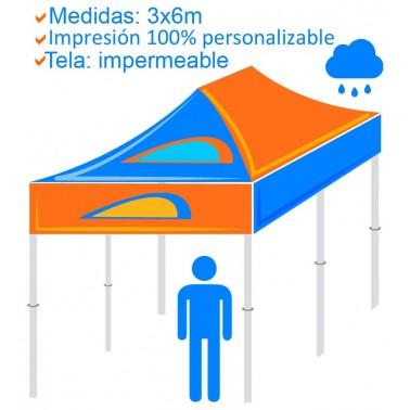 Carpa Personalizada Plegable 3x6m - Tela impermeable