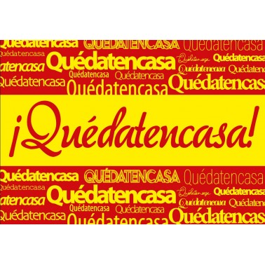 Banderas Quédate en Casa España