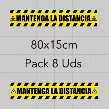 Vinilo adhesivo 80x15cm - Distancia de seguridad
