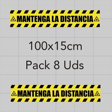 Vinilo adhesivo 100x15cm - Distancia de seguridad