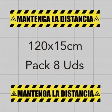 Vinilo adhesivo 120x15cm - Distancia de seguridad
