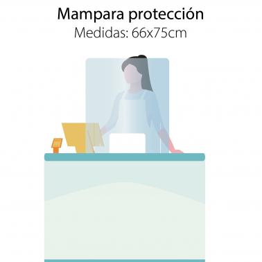 Mampara 66x75cm protección mostradores
