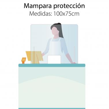 Mampara 100x75cm protección mostradores COVID