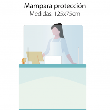 Mampara 120x75 protección mostradores Covid