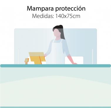Mampara 140x70 protección mostradores Covid