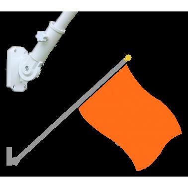 Mástil de pared estándar con bandera incluida