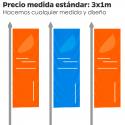 Bandera Vertical Publicitaria para mástiles con brazo potencia