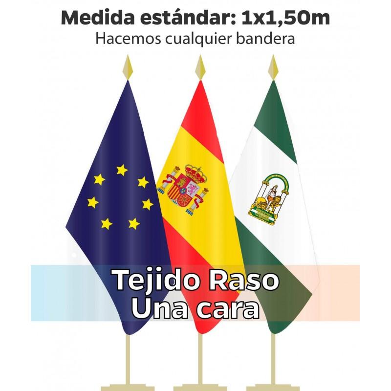 Bandera Interior tejido raso