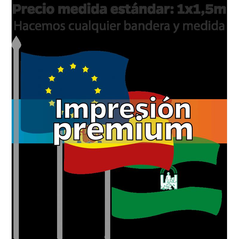 Banderas institucionales impresión PREMIUM