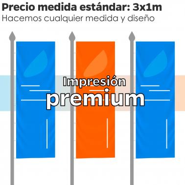 Bandera Vertical Publicitaria - Impresión Premium