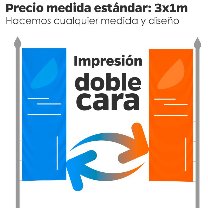 Banderas publicitarias doble impresión a dos caras
